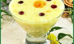 Кисель молочный с ягодами