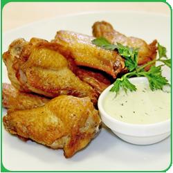 Крылышки куриные в сметанно-горчичном соусе