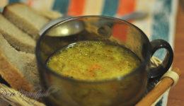 Картофельный суп с огурцами
