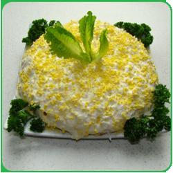 рецепт салата с горбушей и рисом рецепт с фото