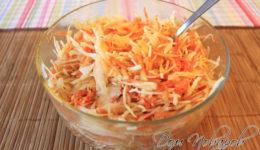 Салат витаминный из капусты и моркови — рецепт здоровья