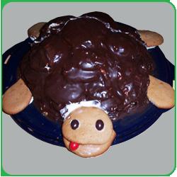 Торт «Черепаха» с шоколадной глазурью