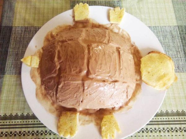 делаем торт в форме черепахи