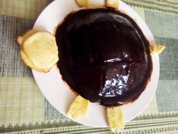 Оформление торта черепаха