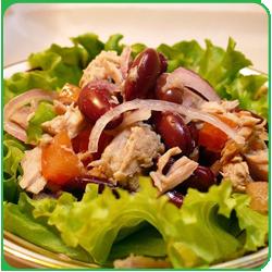 Салат за 5 минут или Быстрый салат с фасолью