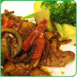 Шницель по-мексикански с овощами