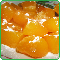 Сладкий десерт из тыквы