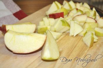 Измельчаем яблоки