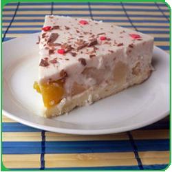 Творожно фруктовый торт