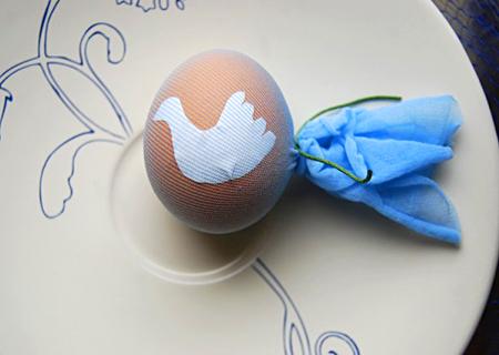 Трафареты на пасхальных яйцах