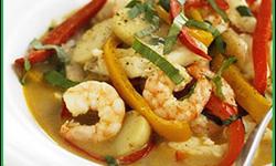 Рагу с треской и морепродуктами