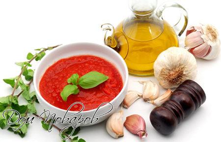 Как готовить томатный соус к шашлыкам и другим мясным блюдам