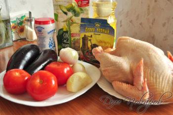 Курица, овощи и специи