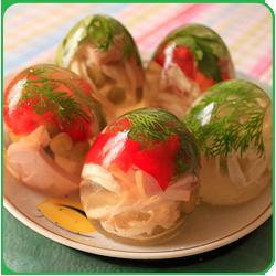 Холодная закуска заливное «Яйца Фаберже»