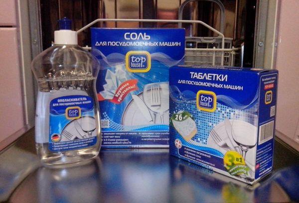 Специальная соль для посудомойки