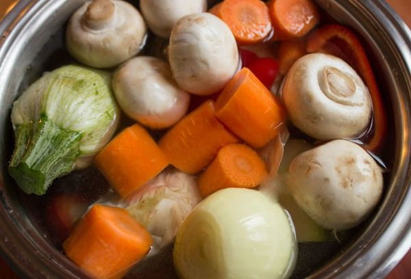 бульон с грибами