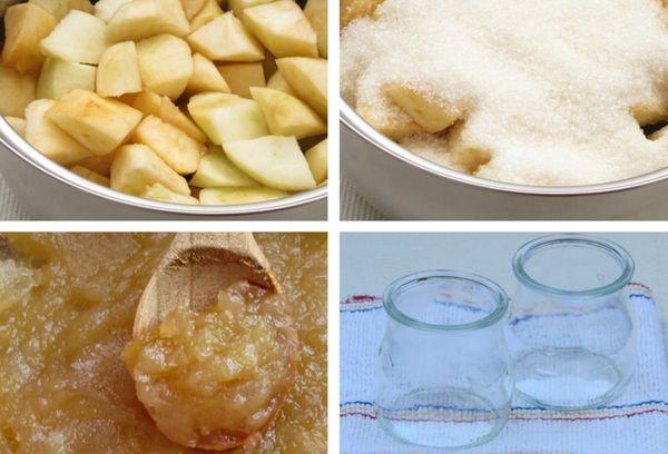 приготовление конфитюра из яблок