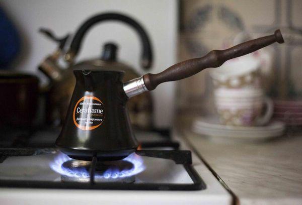 кофеварка на плите