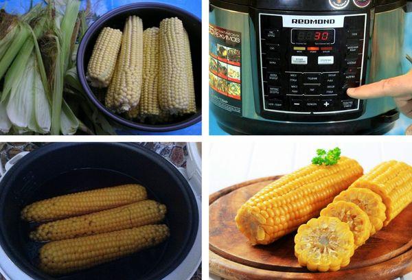 Как варить кукурузу в мультиварке и скороварке?
