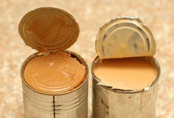 две банки сгущенного молока