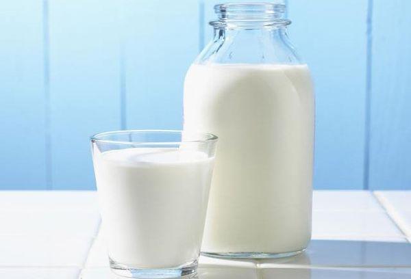 бутылк и стакан молока