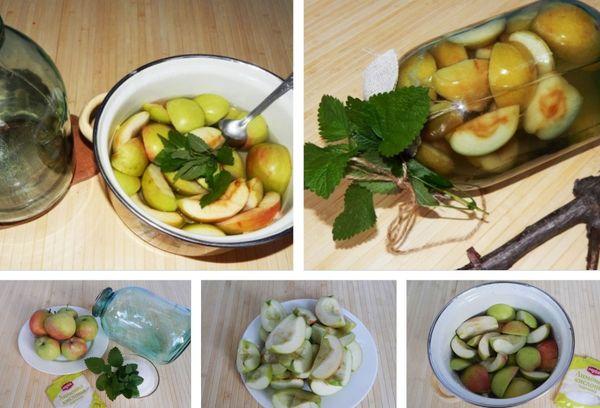 яблоки и мята