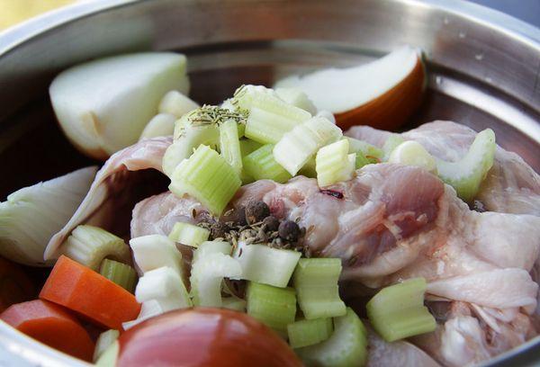 ингредиенты для куриного бульона