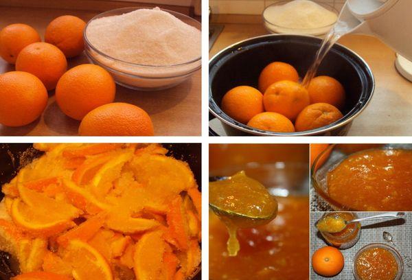 приготовление варенья из цитрусов