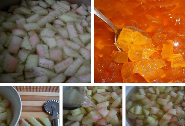 Десерт из арбуза