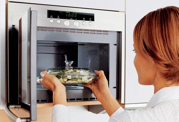 использование микроволновой печи
