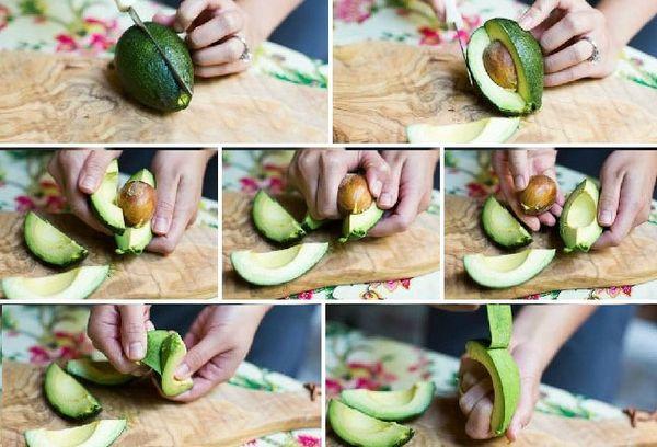 чистка авокадо