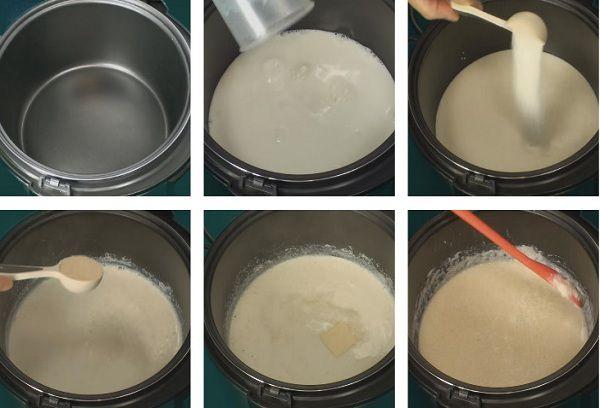 приготовление каши в мультиварке на молоке