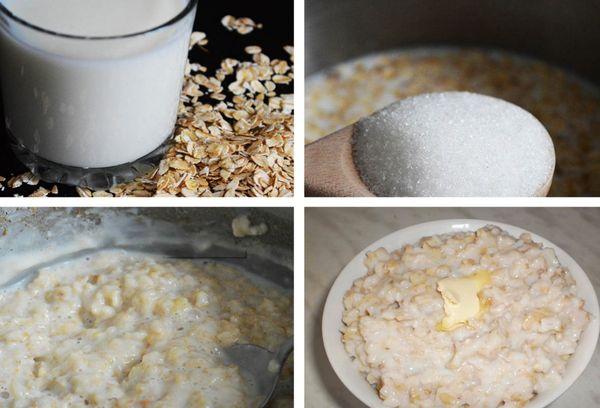 приготовление каши на молоке