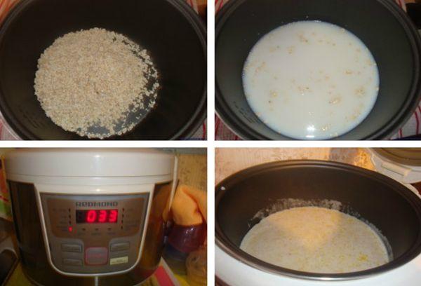 приготовление каши в мультиварке