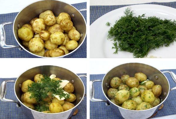 приготовление картошки с укропом