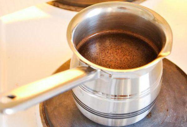 Кофе в маленькой кострюле
