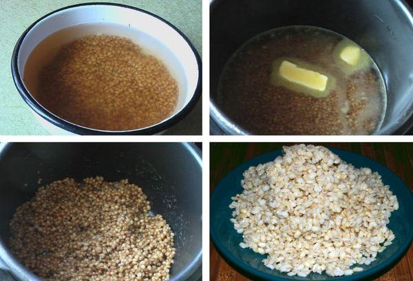 приготовление каши на воде