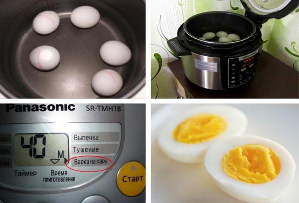 отваривание яиц в мультиварке