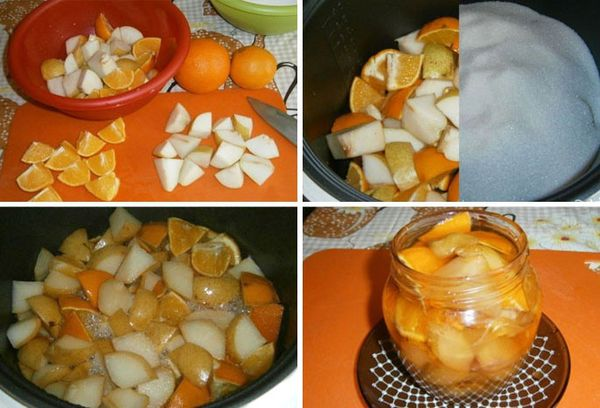 грушевое варенье с апельсином