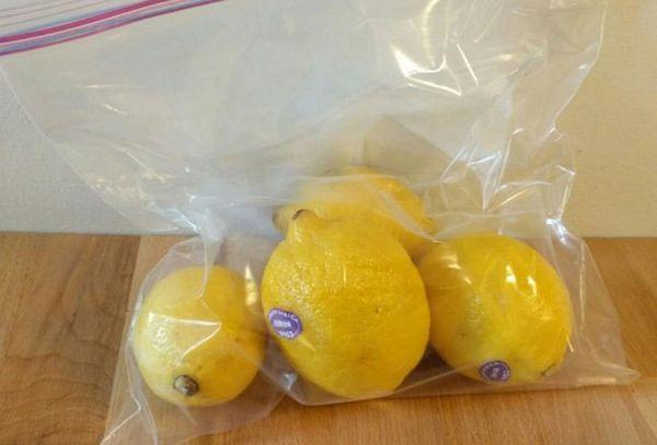 лимоны в пакете