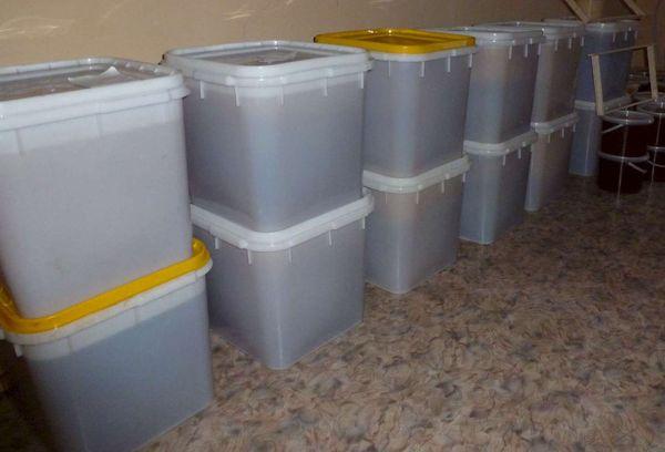 хранение меда в пластиковых контейнерах