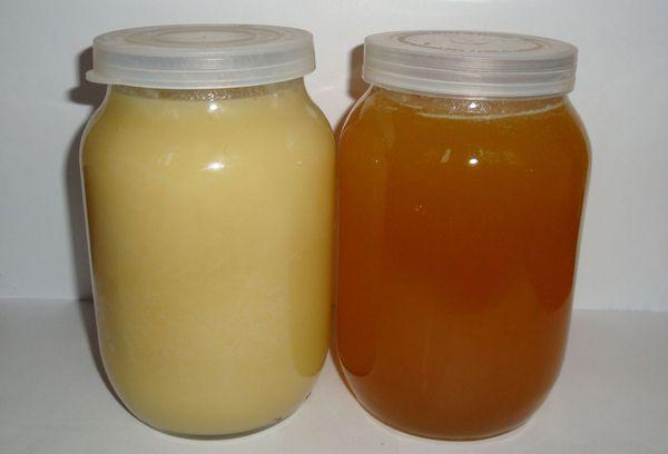 две литровой банки с медом