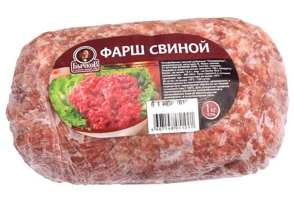 замороженный свиной фарш