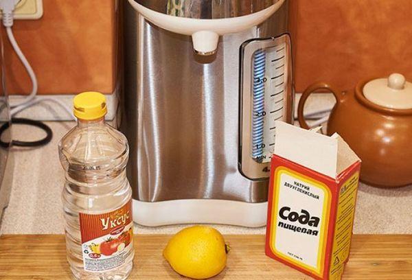 чистка накипи в чайнике содой