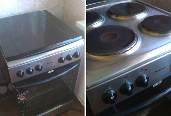 электрическая плита с металлической поверхностью
