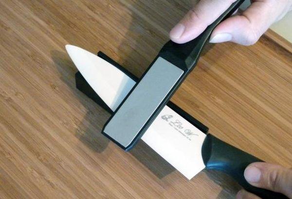 Керамический нож как точить