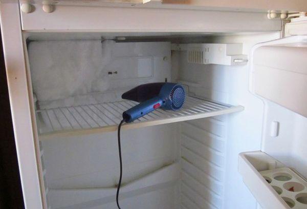 фен в холодильнике