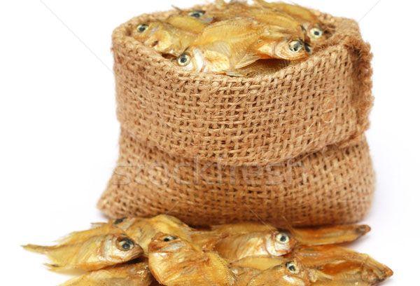 вяленая рыба в мешке