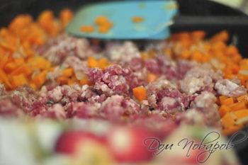Начинка для пирога с фаршем и тыквой