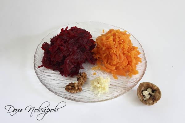 Готовые ингредиенты для салата